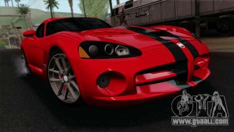 Dodge Viper SRT10 v1 for GTA San Andreas