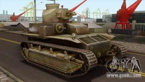 T2 Medium Tank for GTA San Andreas