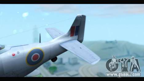 P-51 Mustang Mk4 for GTA San Andreas back left view