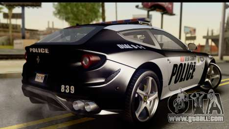 NFS Rivals Ferrari FF Cop for GTA San Andreas left view