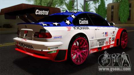 BMW M3 GTR 2001 Prototype Technology Group for GTA San Andreas left view