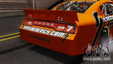 NASCAR Dodge Charger 2012 Short Track for GTA San Andreas back view
