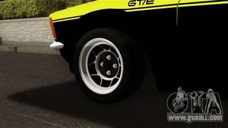 Opel Kadett E GTE 1900 Italian Rally for GTA San Andreas back left view