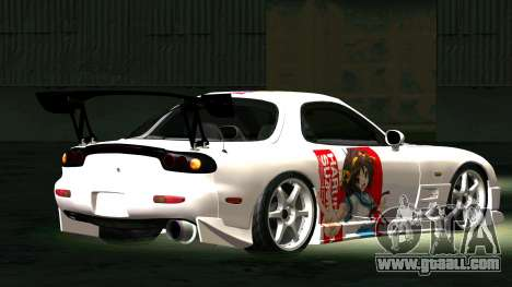 Mazda RX-7 for GTA San Andreas back left view