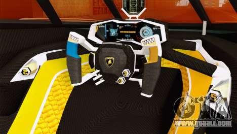 Lamborghini Egoista for GTA San Andreas right view