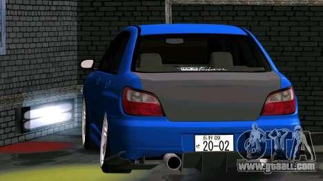 Subaru Impreza WRX for GTA San Andreas back view
