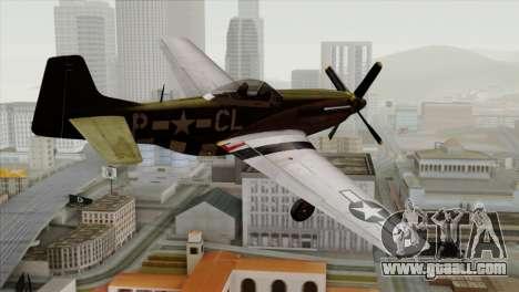 P-51D Mustang Da Quake for GTA San Andreas left view