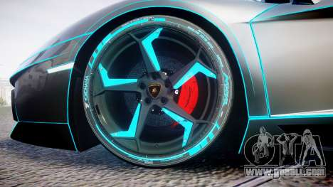 Lamborghini Aventador TRON Edition [EPM] Updated for GTA 4 back view