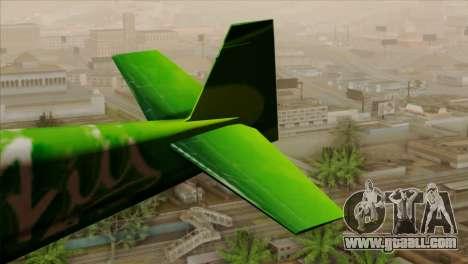 GTA 5 Stuntplane Spunck for GTA San Andreas back left view