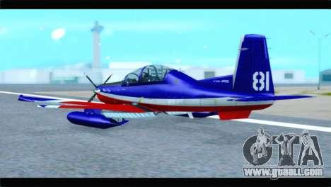 Beechcraft T-6 Texan II Red for GTA San Andreas left view