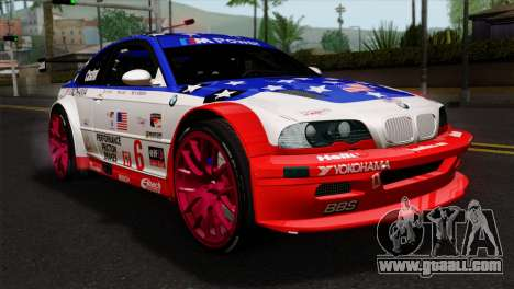 BMW M3 GTR 2001 Prototype Technology Group for GTA San Andreas