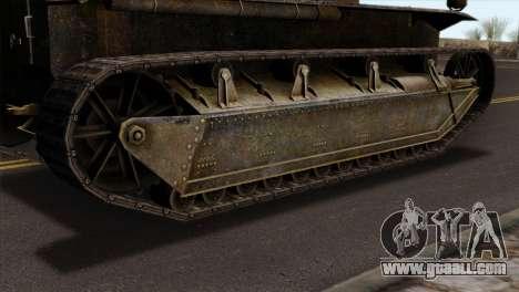 T2 Medium Tank for GTA San Andreas back left view