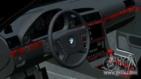 BMW 750i e38 for GTA San Andreas interior