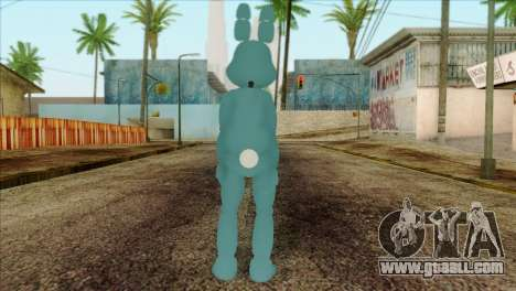 Toy Bonnie from Five Nights at Freddy 2 for GTA San Andreas second screenshot