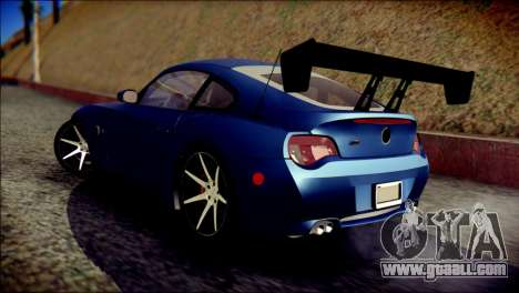 BMW Z4M Coupe 2008 for GTA San Andreas left view