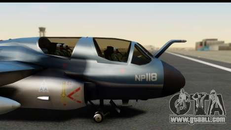 Northrop Grumman EA-6B ISAF for GTA San Andreas back view