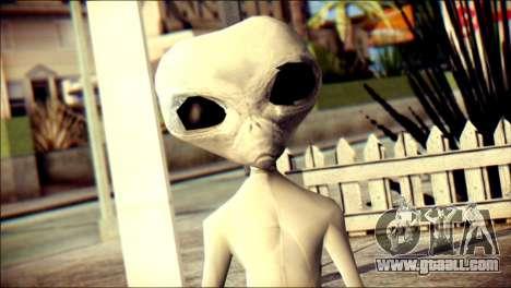 Gray Alien Skin Skin for GTA San Andreas third screenshot