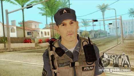COD Advanced Warfare Jon Bernthal Security Guard for GTA San Andreas third screenshot