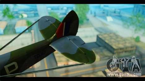 Supermarine Spitfire F MK XVI 318 SQ for GTA San Andreas back left view
