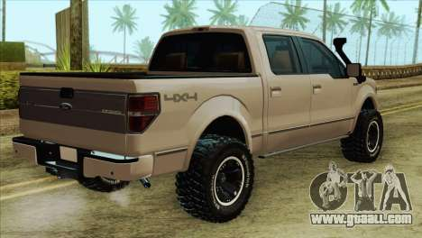 Ford F-150 Platinum 2013 4X4 Offroad for GTA San Andreas left view