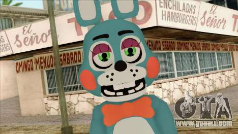 Toy Bonnie from Five Nights at Freddy 2 for GTA San Andreas third screenshot