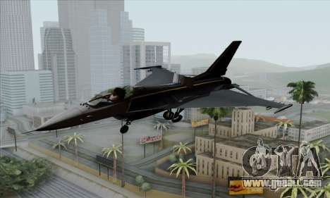 F-16XL for GTA San Andreas back view