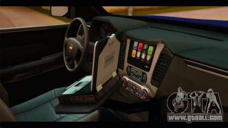 Chevrolet Suburban 2015 BCSD Sheriff for GTA San Andreas right view