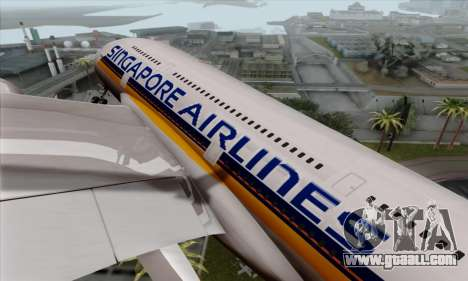 Airbus A380-800 Singapore Airline for GTA San Andreas back view