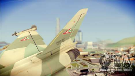 EuroFighter Typhoon 2000 Hungarian Air Force for GTA San Andreas back left view