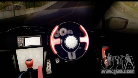 Toyota GT86 Itasha for GTA San Andreas inner view