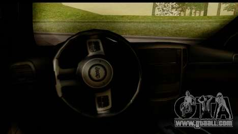 Jeep Grand Cherokee SRT8 2014 for GTA San Andreas inner view