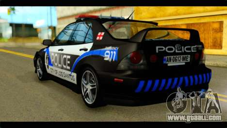 Toyota Altezza Police for GTA San Andreas left view
