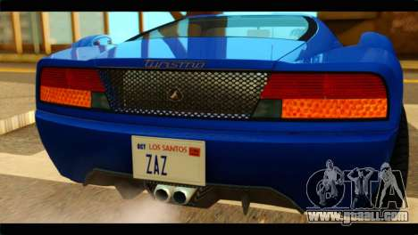 GTA 5 Grotti Turismo for GTA San Andreas back view