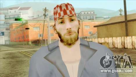 Bearded mechanic for GTA San Andreas third screenshot