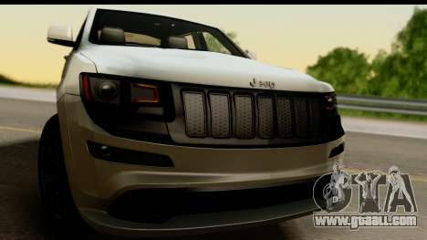 Jeep Grand Cherokee SRT8 2014 for GTA San Andreas back left view