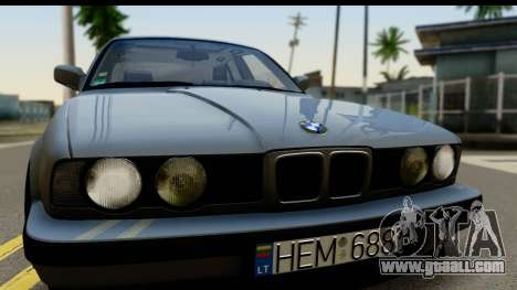 BMW 525i E34 for GTA San Andreas back left view