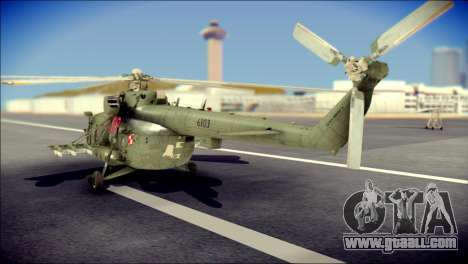 Mil Mi-8 Polish Air Force Afganistan for GTA San Andreas left view