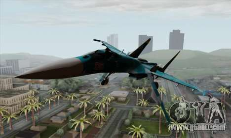 SU-27 Flanker A Warwolf Squadron for GTA San Andreas back view