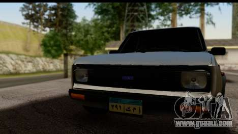 Fiat 128 for GTA San Andreas back left view