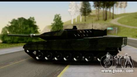 Leopard 2A6 Woodland for GTA San Andreas back left view