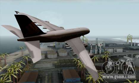 Airbus A380-800 Singapore Airline for GTA San Andreas left view