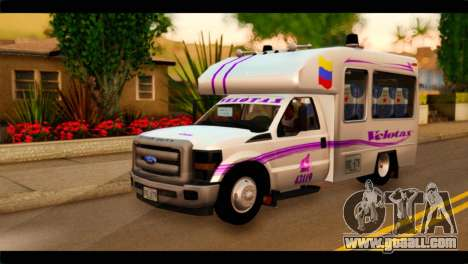 Ford F-350 Bus for GTA San Andreas