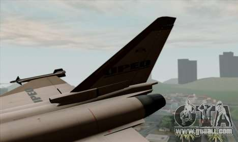 Eurofighter Typhoon 2000 UPEO for GTA San Andreas back left view
