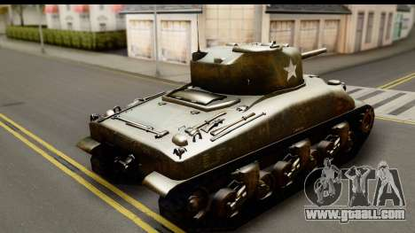 M4A1 Sherman First in Bastogne for GTA San Andreas left view