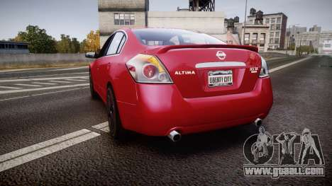 Nissan Altima 3.5 SE for GTA 4 back left view