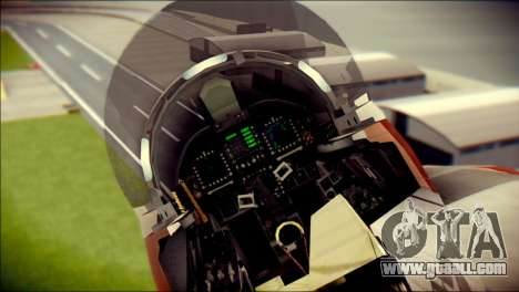 F-22 Raptor Starscream for GTA San Andreas back view