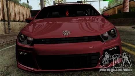 Volkswagen Scirocco R for GTA San Andreas back view
