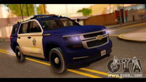 Chevrolet Suburban 2015 BCSD Sheriff for GTA San Andreas