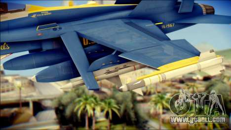 FA-18D Hornet NASA for GTA San Andreas right view