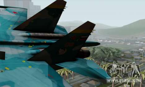 SU-27 Flanker A Warwolf Squadron for GTA San Andreas back left view
